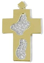 Tatitoto Gioie Women's Pendant in 18k Gold with White Cubic Zirconia, 15 Grams