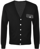 Versace Wool Cardigan Black