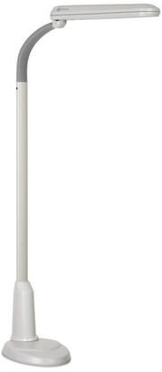 OttLite 24 Watt Floor Lamp, White and Gray