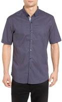 7 Diamonds Men's Atomic Lullaby Slim Fit Woven Shirt