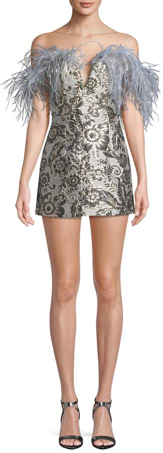 Alice McCall Women's Embellished Brocade Mini Dress