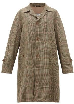 Maison Margiela Oversized Single-breasted Checked Twill Coat - Green Multi