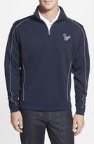 Cutter & Buck Men's Big & Tall 'Houston Texans - Edge' Drytec Moisture Wicking Half Zip Pullover