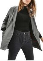Topshop Tweed Longline Blazer