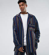 Reclaimed Vintage Inspired Oversized Shirt With Hood In Stripe