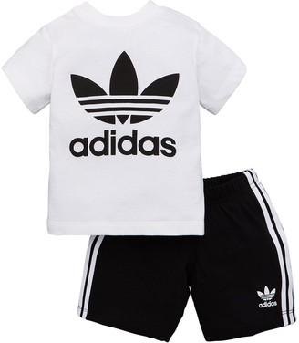 adidas Shorts & T-shirt Set - White
