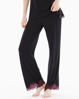 Soma Intimates Lace Pajama Pants Black/Honeysuckle RG