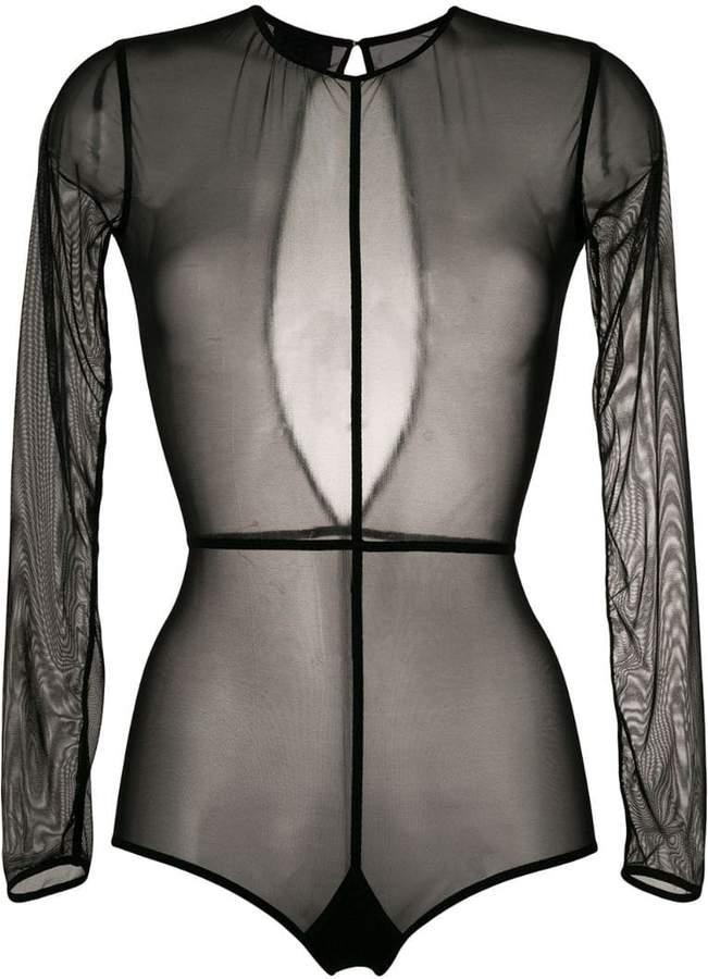 Ann Demeulemeester long sleeve sheer body