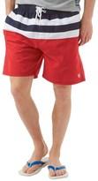 Kangaroo Poo Mens Striped Board Shorts Navy/Red
