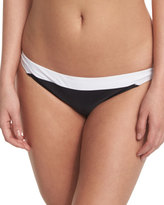 Diane von Furstenberg Malibu Colorblock Hipster Swim Bottom, Black/White