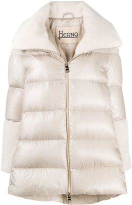 Herno Funnel Neck Puffer Coat