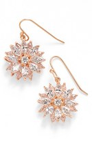 Nina Women's 'Floral' Crystal Drop Earrings