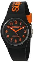 Superdry 'Urban' Quartz Plastic and Silicone Dress Watch, Color:Black (Model: SYG164B)