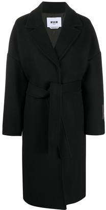 MSGM Patch-Detail Belted Coat