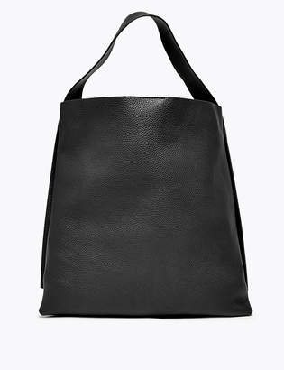 Marks and Spencer Leather Casual Hobo Bag