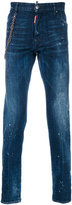 DSQUARED2 chain strap Cool Guy jeans - men - Cotton/Calf Leather/Polyester/Spandex/Elastane - 46