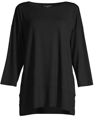 Eileen Fisher Ballet-Neck Bracelet-Sleeve Tunic