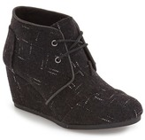 Toms 'Desert - Dot' Wedge Bootie (Women)
