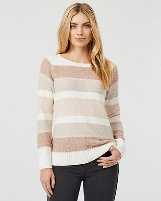 Le Château Stripe Knit Crew Neck Sweater