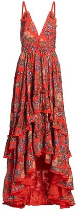 Alexis Primrose Floral Tiered Maxi Dress