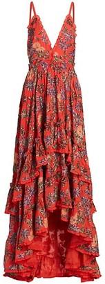 Alexis Primrose Floral Tiered Maxi Dress