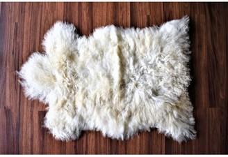 "Calvo Animal Print Handmade 2'2"" x 3' Sheepskin Cream Indoor / Outdoor Area Rug Millwood Pines"