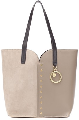 See By Chloã© Gaia Small leather and suede tote