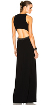 Thierry Mugler Fitted Cady & Lace Chain Gown