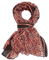 Charlotte Russe Rose Print Woven Scarf