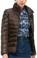 Allonly Women Slim Standing Light Down Jacket Short Coat Outwear
