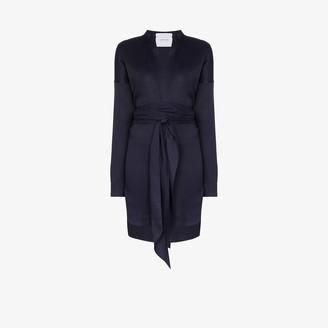 BONDI BORN V-neck wrap mini dress