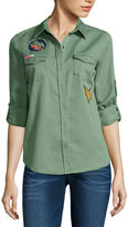 Arizona Button-Down Patch Shirt-Juniors