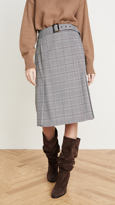 ADEAM Belted Wrap Skirt