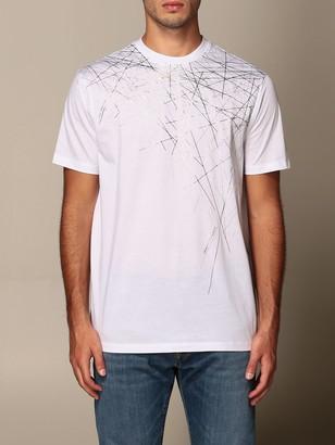 Armani Exchange Cotton T-shirt With Geometric Print