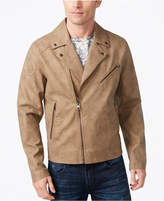 GUESS Men's Leather Moto Jacket