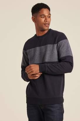 Fat Face Mens FatFace Blue Pembroke Cut And Sew Crew Sweater - Blue