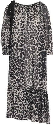 Dries Van Noten Leopard-print cotton midi dress