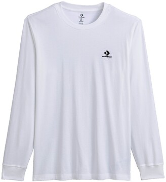 Converse Foundation Small Logo T-Shirt with Long Sleeves in Cotton