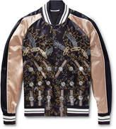 Valentino - + Zandra Rhodes Printed Satin Bomber Jacket