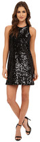 Michael Stars Sequin Sleeveless Crew Neck Shift Dress