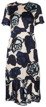 Marni Rose-Print Sheath Dress