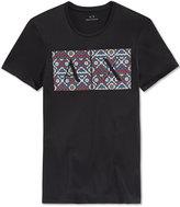 Armani Exchange Men's Native Graphic-Print Logo T-Shirt