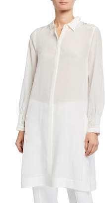Kobi Halperin Plus Size Dawson Long Silk Blouse