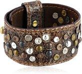 "Frye Unisex Deborah Studded Glazed Vintage Leather Bracelet, 8"""