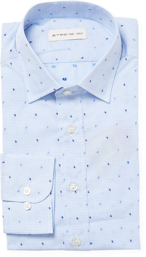 Etro Check And Paisley Dress Shirt