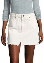 Free People Step Denim Mini Skirt