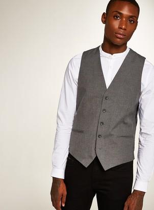 Topman Grey Skinny Fit Smart Suit Waistcoat