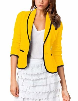 YIPINEU Women's Casual Blazer Vest Elegant Jacket Chic Slim Fit Office Suit