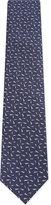 Lanvin Contrast fleck silk tie