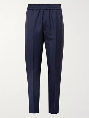 Acne Studios Wool and Mohair-Blend Trousers - Men - Blue